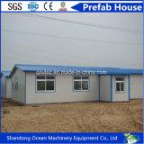 Casa prefabricada de la asamblea rápida barata del precio del material de construcción de la estructura de acero para el campo de refugiado