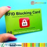 Anti RFID hanking que obstruem o cartão do PVC protegem sua identificação