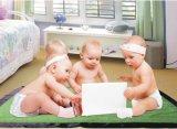 Coperta spazzolata del bambino del panno morbido di PV con la flangia