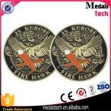 Moeda de promoção com esmalte macio com logotipo 3D Eagle
