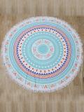 Anmut-Mandala konzipiert Microfiber rundes Badetuch mit Troddeln (4 Arten Entwürfe)
