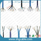 Câble coaxial combiné et câble LAN 2 * CAT6 + 2 * RG6