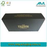 Rectángulo negro de papel de empaquetado del rectángulo de zapato del cartón de Dongguan para el regalo del Mens