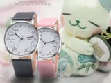 A correia de couro de Gril do relógio dos estudantes fêmeas do relógio das mulheres do relógio de senhoras presta atenção a Antipue