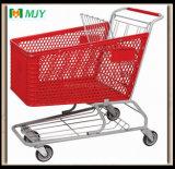 플라스틱 슈퍼마켓 쇼핑 트롤리 180 리터