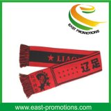 100%のアクリルの編まれたジャカードはサッカーのフットボールのスカーフに送風する