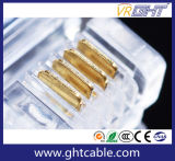 Rj11 connecteur cristal/le bouchon pour le téléphone à l'aide (6P4C)