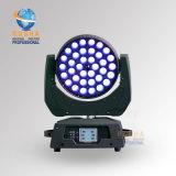 結婚披露宴のためのズームレンズ機能DMX512 Powerconのセリウムによって承認される高い発電のRasha Panta 36*15W 5in1 Rgbaw紫外線LEDの移動ヘッド洗浄ライト