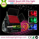 DMX512 Ce van LEDs van de Vierling RGBW van de draadloze LEIDENE Verlichting 96*10W van de Stad IP65, RoHS, UL
