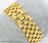 74486 형식 24k 금속 합금에 있는 금에 의하여 도금되는 큰 넓은 보석 팔찌
