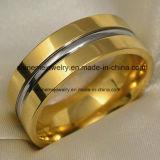 Het Titanium dat van de Juwelen van Shineme Gouden Ring (TR1818) snijdt