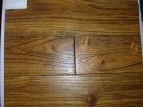 Suelo raspado mano china de la madera dura de la mirada de la teca vieja