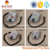 Малая водоустойчивая пластичная коробка снасти рыболовства мухы