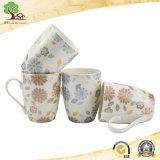 caneca de café cerâmica da impressão 11oz popular com projeto bonito da flor na fábrica de Hunan