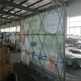 De snelle Banner van de Reclame van de Stof van het Aluminium van de Opstelling voor Achtergronden