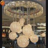 Lista Pendant Pendant di vetro Om55004-600+500+400+350+300+250 di prezzi del lampadario a bracci dell'hotel di illuminazione di telecomando di illuminazione della Tunisia della lampada Pendant dell'hotel