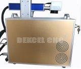 máquina portátil da marcação gravura a água-forte do laser da fibra de 10W 20W com a tabela movente para o material grande do tamanho