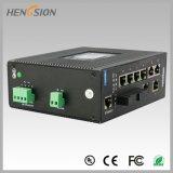 2つのSFPのFxによって管理される産業ネットワークスイッチが付いている8ポート