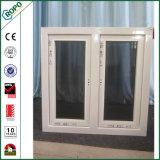 Flügelfenster-Fenster-Entwurf der Hurrikan-Auswirkung-UPVC doppelter glasig-glänzender