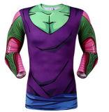 Form-Entwurfs-EignungSpandex/Polyester-Komprimierung-Haut-lange Hülsen-Sportkleidung