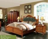 Amerika-Art-Schlafzimmer-Set, feste hölzerne Bett-Möbel (1602)