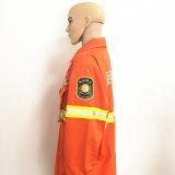 Vêtements de travail de flocage enduits ignifuges matériels de polyester de coton