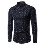 Les Mens amincissent les chemises de robe régulières en bonne santé de bouton (A436)