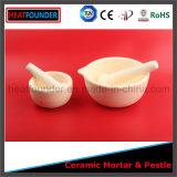 Mortaio di ceramica dell'allumina calda di vendita 99% con il pestello