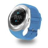 Мобильный телефон Smartwatch франтовской карточки пользы 2g SIM Wrisbrand вахты Y1 круглой Android толковейший