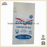 Bolso tejido polipropileno laminado para la harina de trigo, arroz