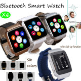 Het Slimme Horloge van Bluetooth met het Gebogen Scherm (X6)