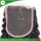 女性の元の人間の毛髪のねじれた巻き毛のスイスのレースの閉鎖