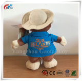Nouveau logo personnalisé Marmotte de promotion de jouets en peluche un jouet en peluche