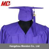 Vente en gros pourprée adulte de gland de robe de chapeau de graduation pour l'université