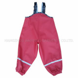 ChildrenまたはBabyのためのPU Red Solid Reflective Rainwear