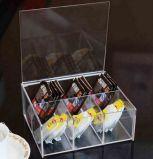 Étui à thé en acrylique Clamshell