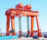 Grue de portique lourde élevée de poutre de double de construction de bateau de Perfermance
