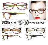 Moda óculos de Olho de Gato estrutura óptica com dobradiças de Mola