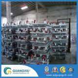 Compartimento da malha de arame de aço dobrável Caixa de Armazenamento com Rodas