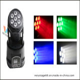 Mini 7*12Вт светодиод RGBWA перемещение головки вымыть эффект освещения