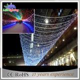 Het Licht van het openlucht/Binnen Blauwe LEIDENE van de Decoratie van Kerstmis Gordijn van de Fee