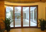Дверь алюминиевого сплава порошка Coated нутряная с двойным стеклом (FT-D190)