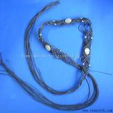方法綿のロープによって編まれるふさのビード民族ベルトの鎖の女性の服