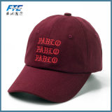 Gorra de béisbol de encargo del campeón del bordado de los sombreros del papá del visera