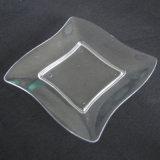 식기 플라스틱 격판덮개 처분할 수 있는 쟁반은 격판덮개를 사각 물결친다