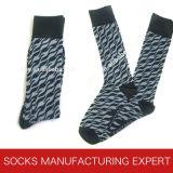 Alta calidad de los hombres de algodón Peine libre del calcetín (UBM1020)