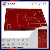 높은 광택 부엌 찬장 (LCK2017)를 위한 UV 색칠 PVC에 의하여 박판으로 만들어지는 MDF