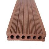 Decking plástico de madera del compuesto WPC del orificio redondo con Ce y el certificado de la ISO