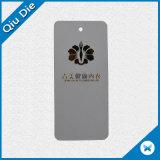 Etiqueta transparente de plástico impermeável personalizados PVC mulheres Hang Tags para vestuário