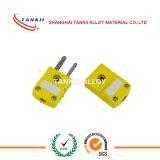 Type fiche de K de connecteur de norme de couleur de jaune